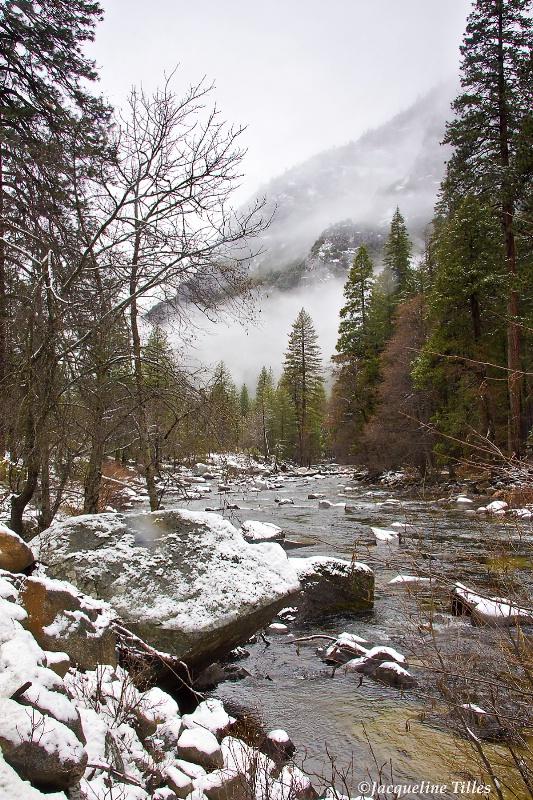Snow on Rocky Bank - ID: 11408438 © Jacqueline A. Tilles