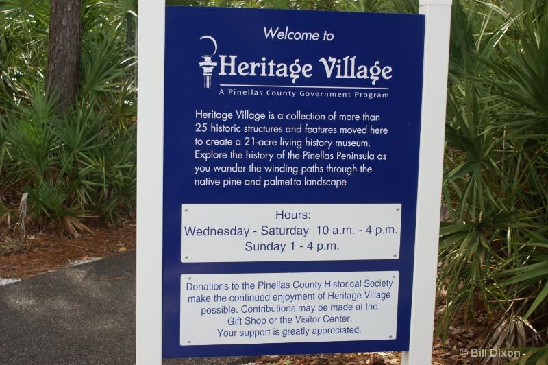 Heritage Village Entrance Sign - ID: 11426088 © William E. Dixon