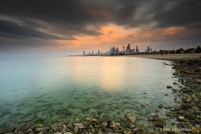 Kuwait City With Dramatic Sky