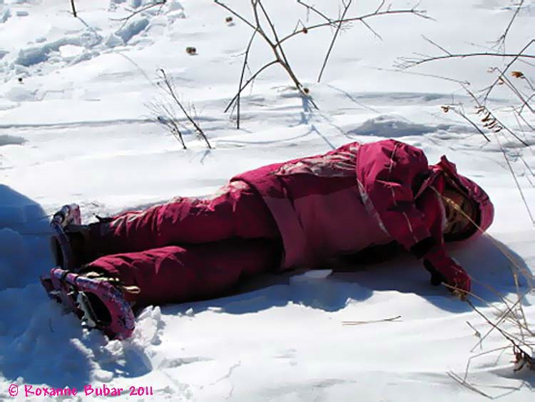 Enjoying Snow Shoeing