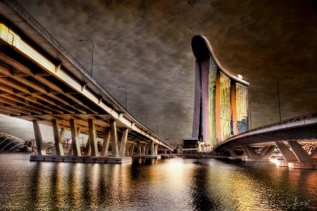 bridge over clear water