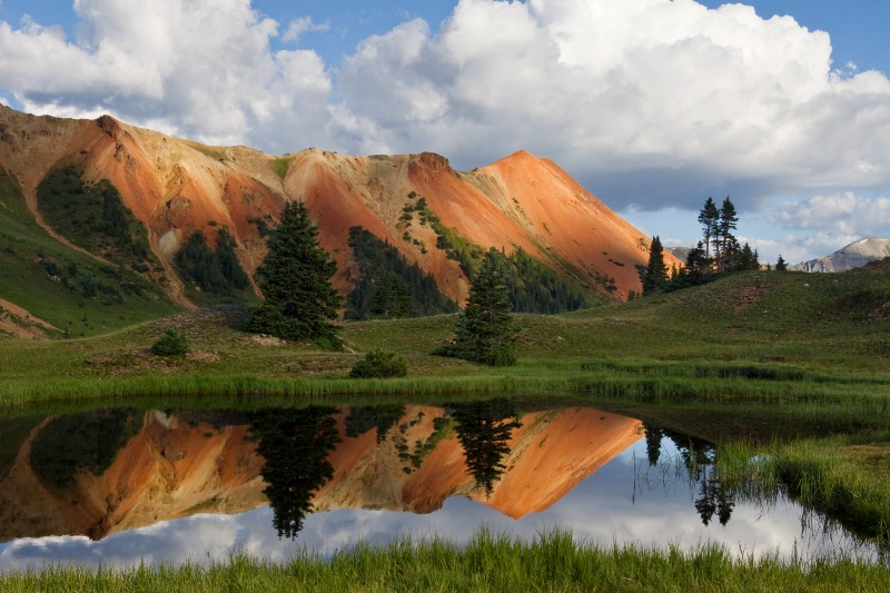 Red Mountain Reflection
