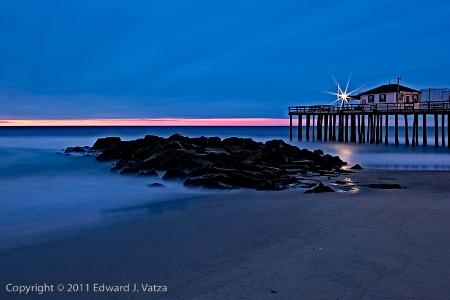On the Beach: Ocean Grove, NJ - Pre-dawn 031211