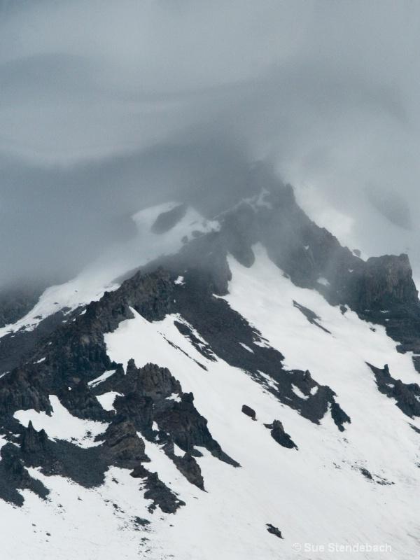 Clouds Enveloping Ridge, Mt. Shasta, CA - ID: 11562414 © Sue P. Stendebach