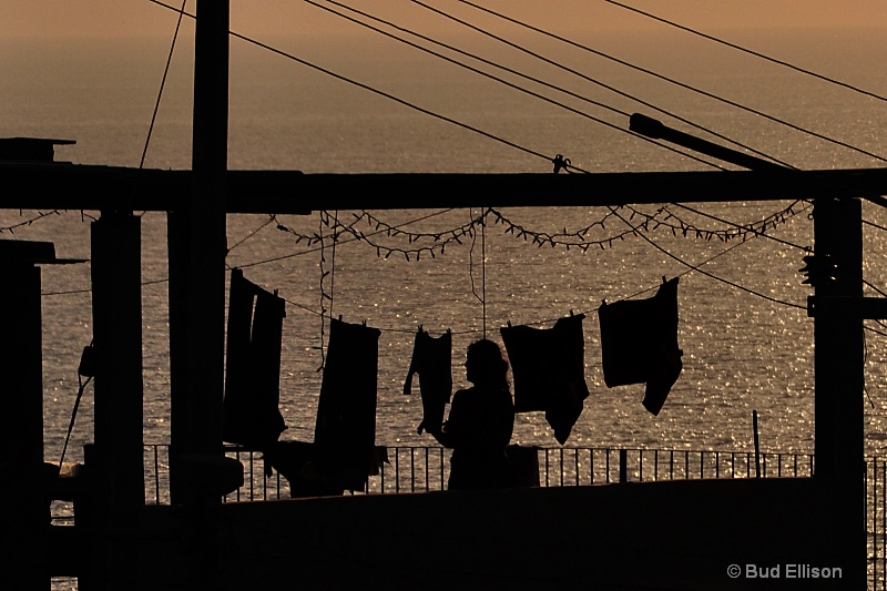Laundry At Sunset