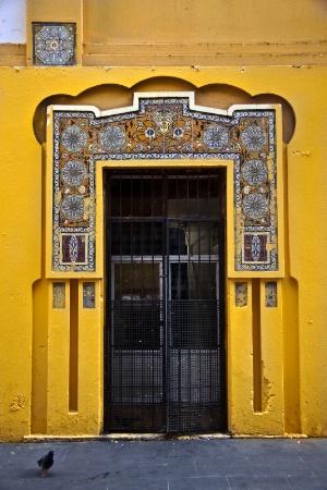 Gray Iron Door
