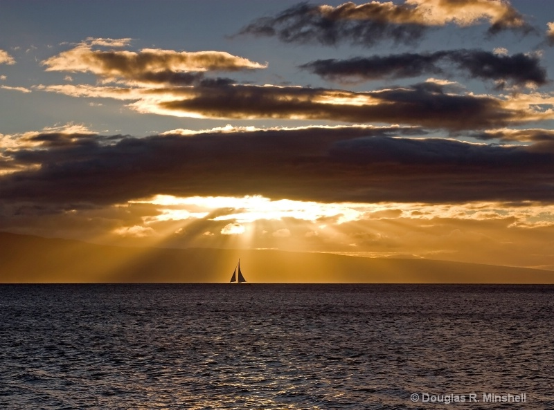 Maui Sailboat Sunset - ID: 11668171 © Douglas R. Minshell