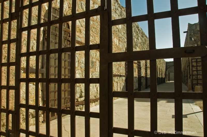 Yuma Territorial Prison from behind bars - ID: 11679777 © Deborah H. Zimmerman