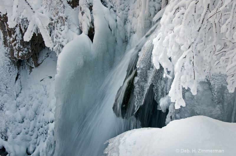 Icy Forms of Roughlock Falls - ID: 11685329 © Deborah H. Zimmerman