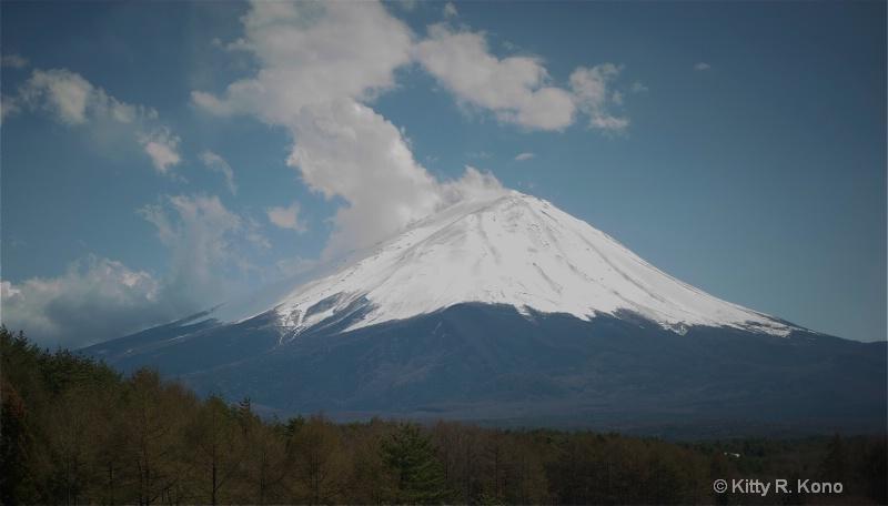 Mt. Fuji from Takae San's Window at Lake Kowag - ID: 11688532 © Kitty R. Kono