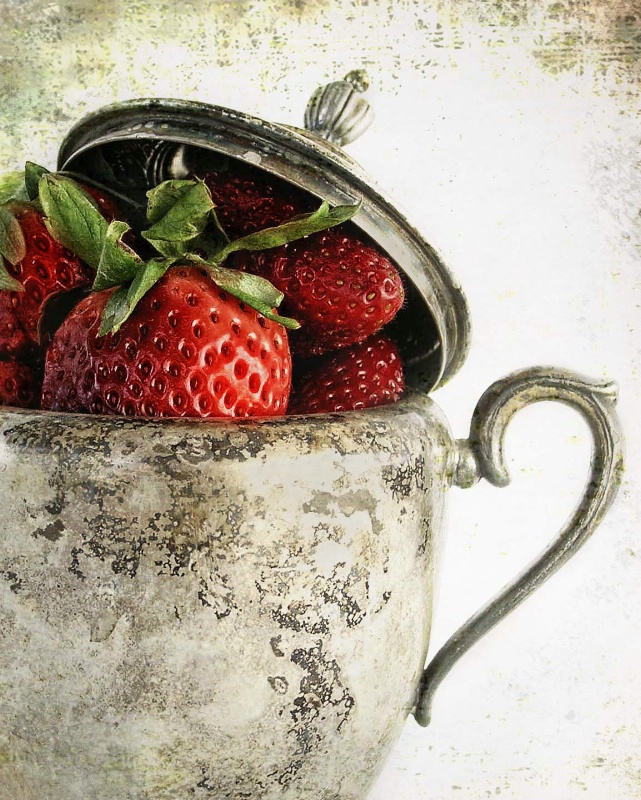 silver & strawberries