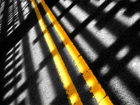 Shadow on the road