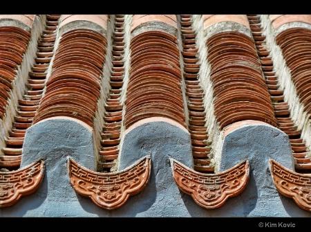 Temple roof top tiles