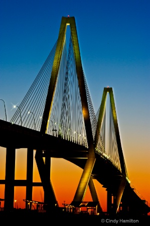 Ravenel Bridge, Charleston, SC at Twilight