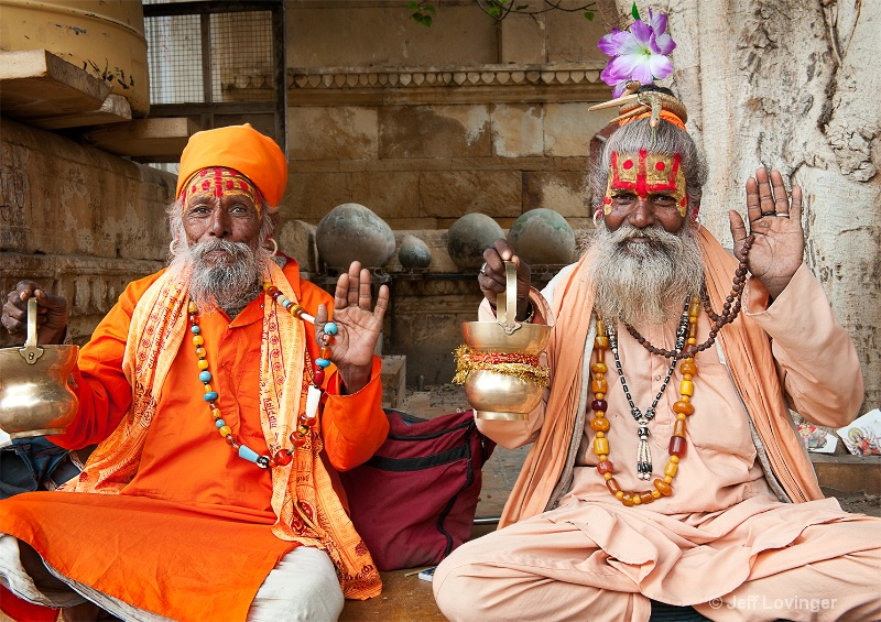 Two Sadhus, India - ID: 11725537 © Jeff Lovinger
