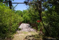 old suspension  bridge -near tolar texas