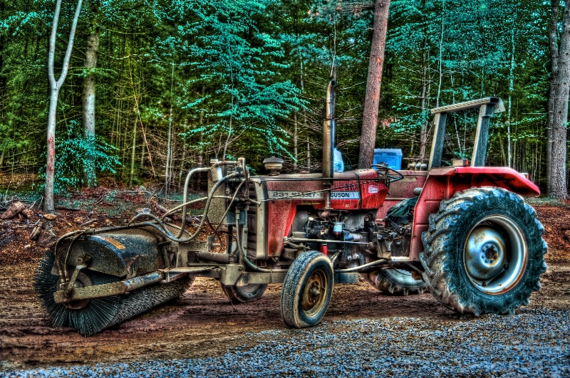 TRACTOR WITH SWEEPER