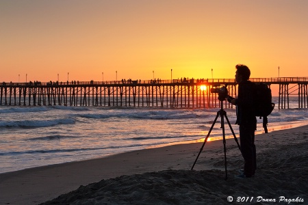 Videographer at Sunset