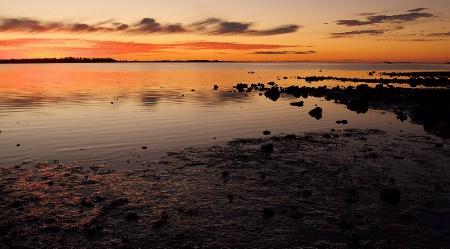 Sunset at Cleveland Point, Qld, Australia
