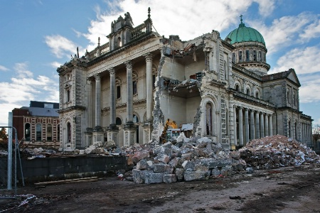 Earthquake damage on Christchurch Cathedral