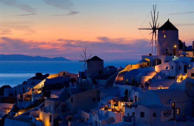 Oia  - Santorini at blue hour