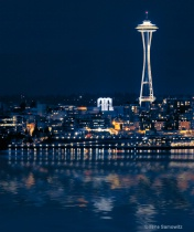 Space Needle Reflected from Alki