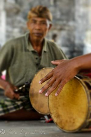 Musicians at Goa Lawah Temple, Bali