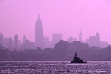 New York City Morning with Tugboat