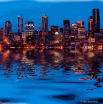 Seattle Lights at Twilight from Alki
