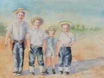 The Happy Wranglers-Original Watercolor-SOLD