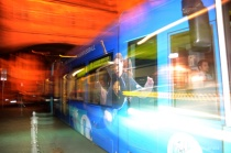 flash blur frankfurt strassenbahn