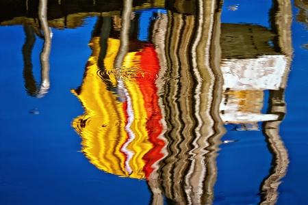 Harbor Dock Reflection