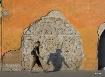 wall ruins shadow...
