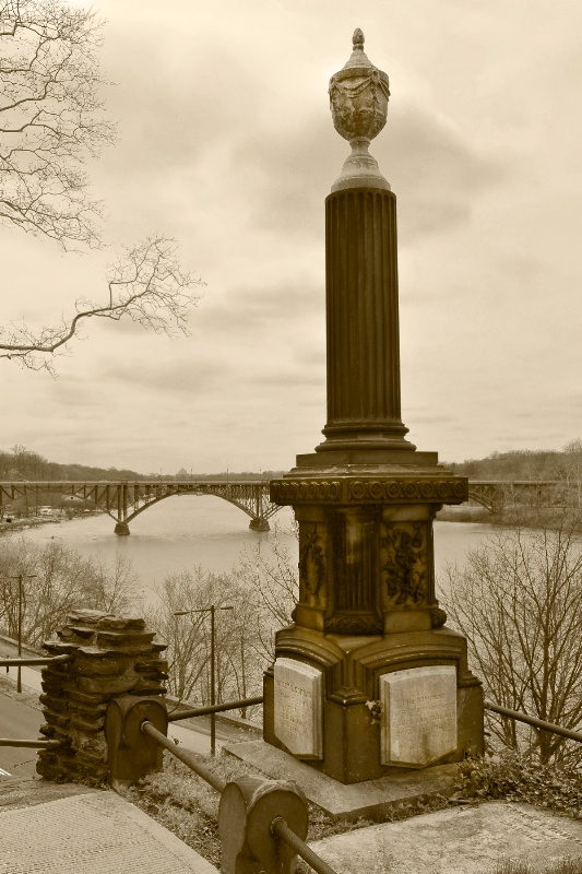 A View From Laurel Hill Cemetery