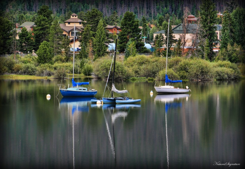 ~ Sail Boat Reflection ~ - ID: 12151241 © Trudy L. Smuin