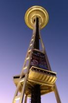Seattle Space Needle at dusk
