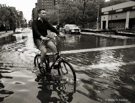biking in NYC