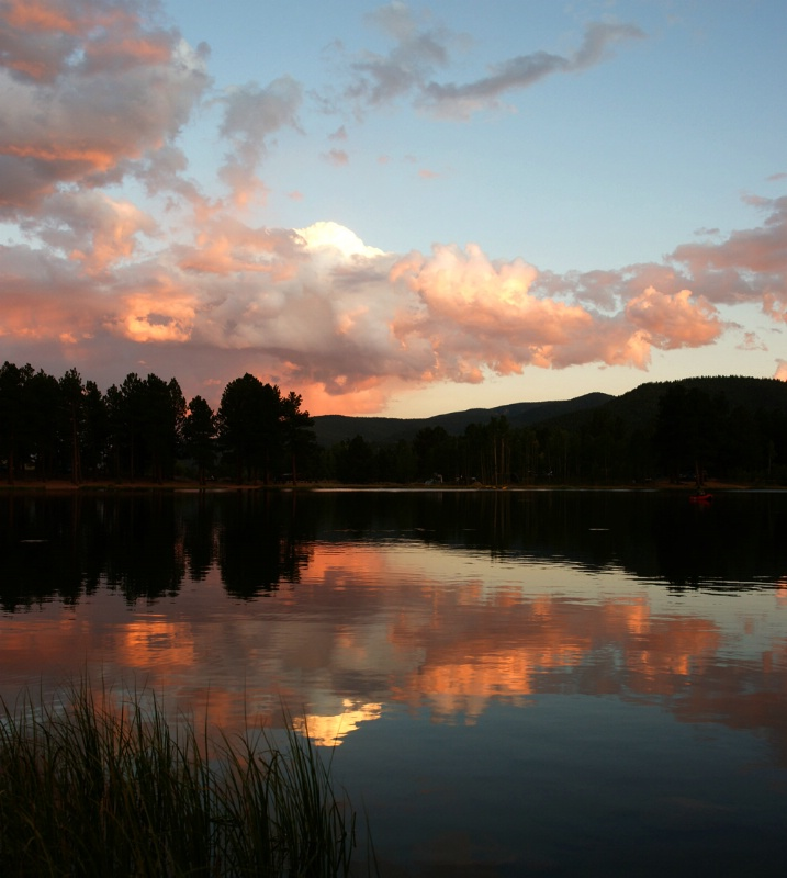 Sunset at O'Haver Lake - ID: 12196076 © Sharon L. Langfeldt