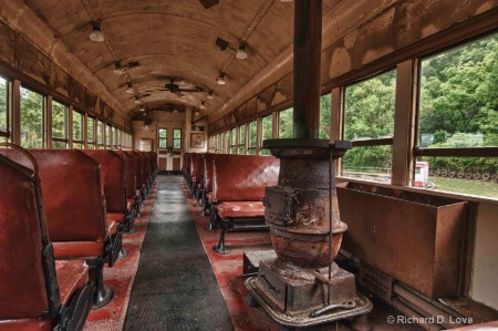 Passenger Train with Wood Stove