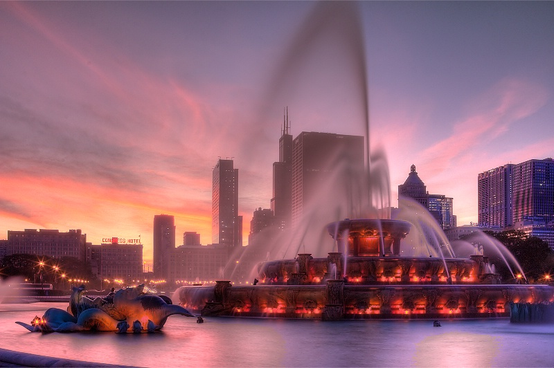 Photography Contest Grand Prize Winner - Sunset Fountain