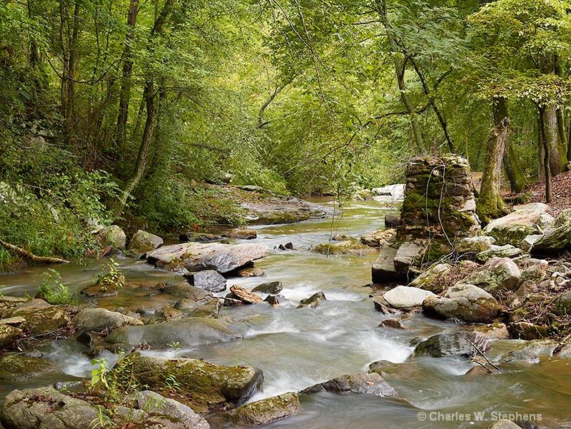 Rainy Day River - ID: 12261314 © Charles W. Stephens