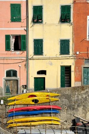 Kayaks in Riomaggiore