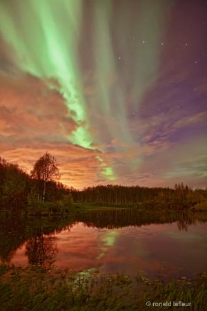 aurora at the river