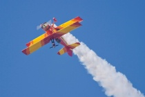 Teresa Stokes  on the Showcat flown by Gene Soucy