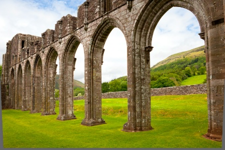 Llanthony Priory Arches, Wales