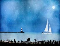 ~ Sailboat at Twilight ~