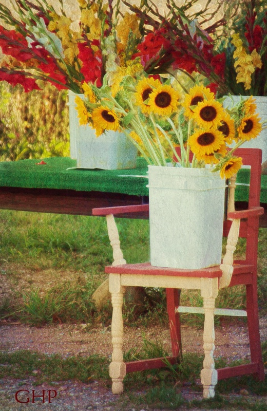 Country Flower Stand