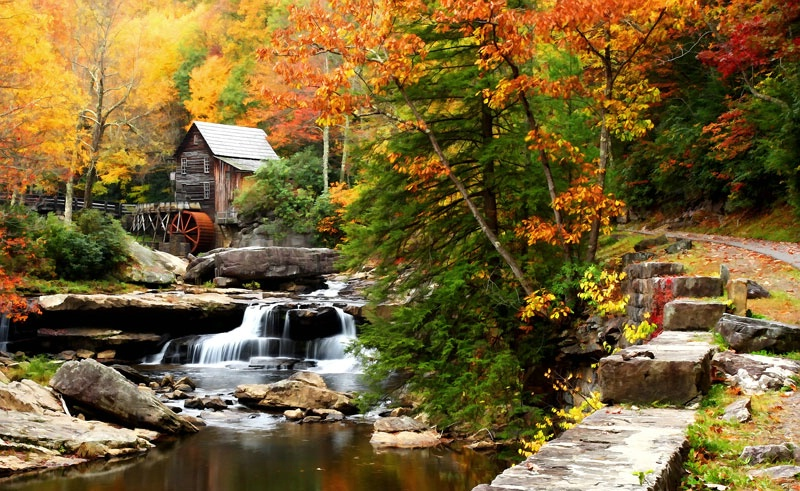 Glade Creek In The Fall