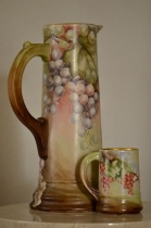 #2 Painted Italian Pitcher & Mug with bounce flash