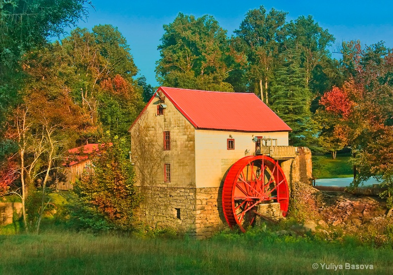 Autumn Sunset at the Old Mill of Guilford, NC - ID: 12363379 © Yulia Basova